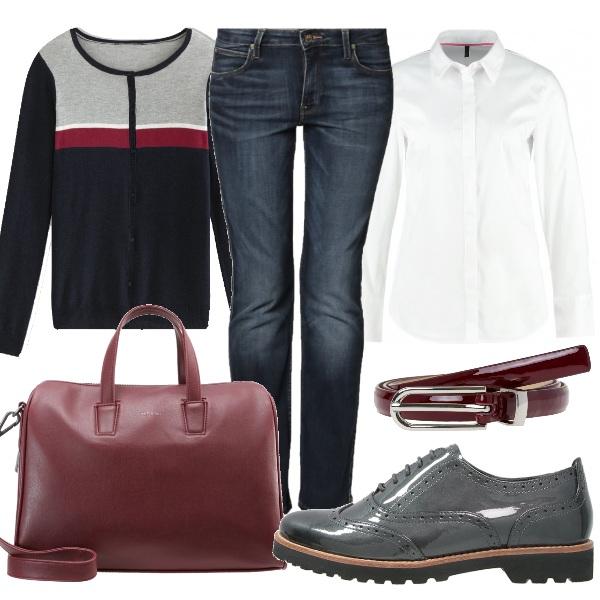 Look da ufficio casual outfit donna Basic per scuola/universit e ufficio | Bantoa