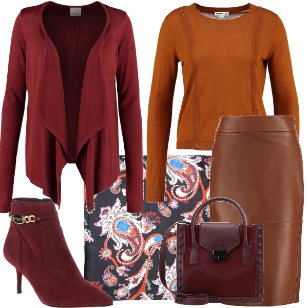 Outfit Longuette in pelle