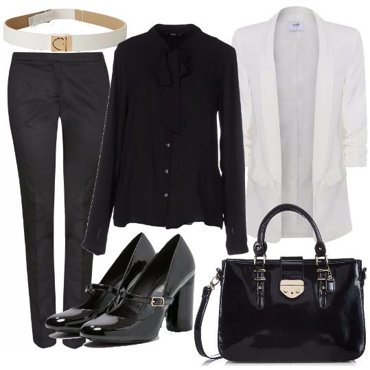 Outfit Vernice, chic e raffinato