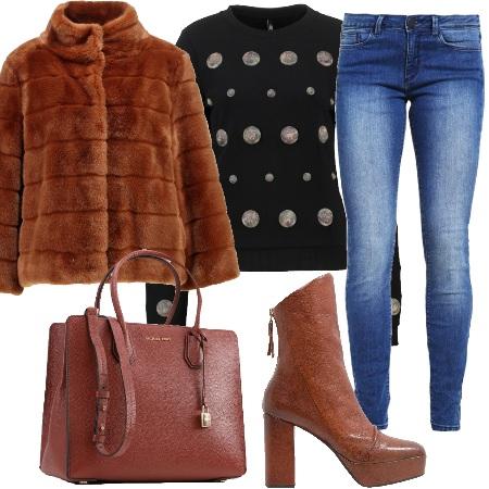 Outfit La giacca di pelliccia