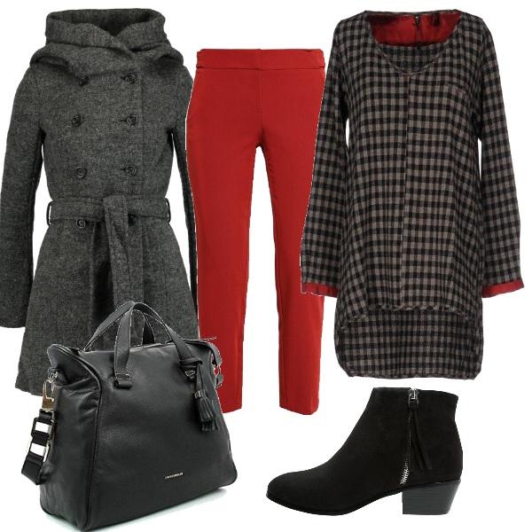 Outfit Basta un po' di rosso
