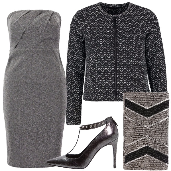 Outfit Metallico chic