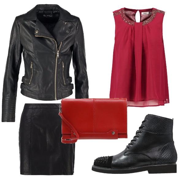 Outfit Ragazza rockeggiante