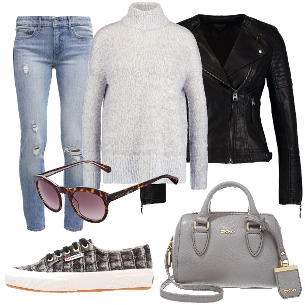 Outfit Sneakers e jeans