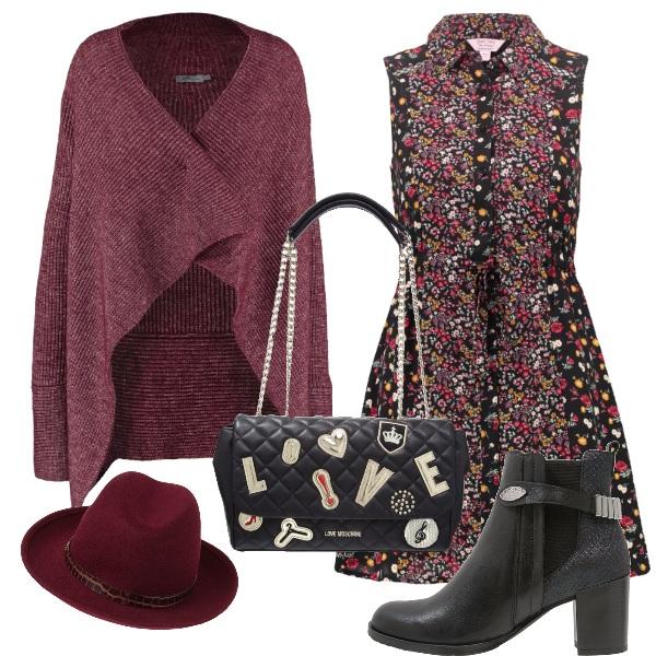 Outfit Rosso borgogna