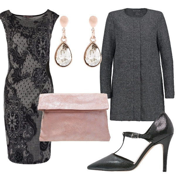 Outfit Pizzo grigio
