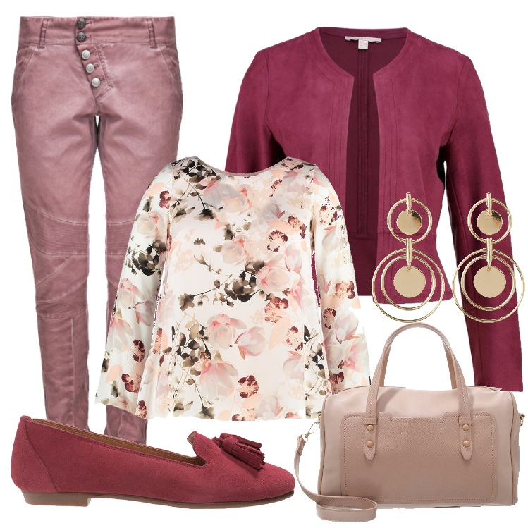 Outfit Curvy in fiore