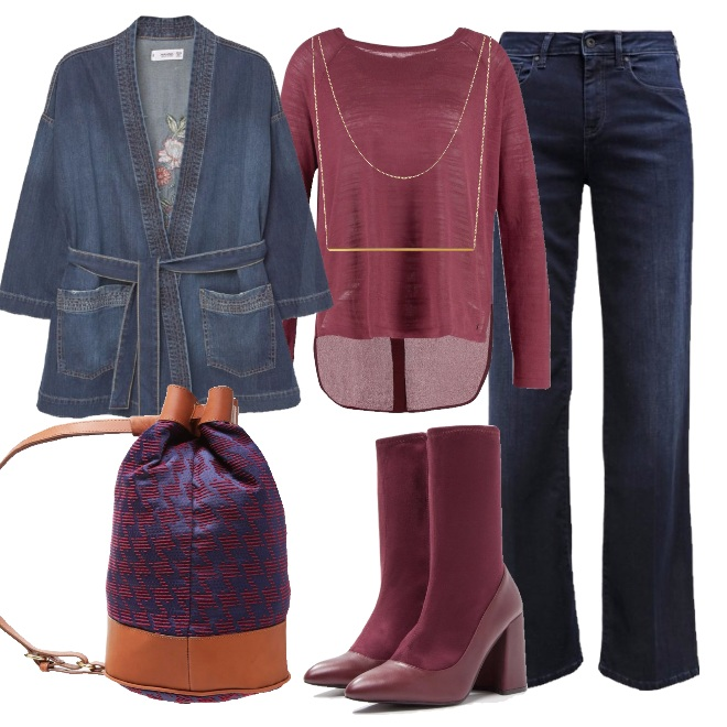 Outfit Autunno in denim