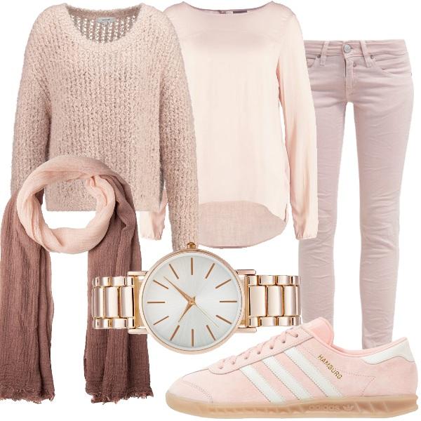Outfit Io vesto rosa