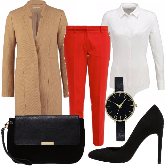 Outfit Cappotto camel