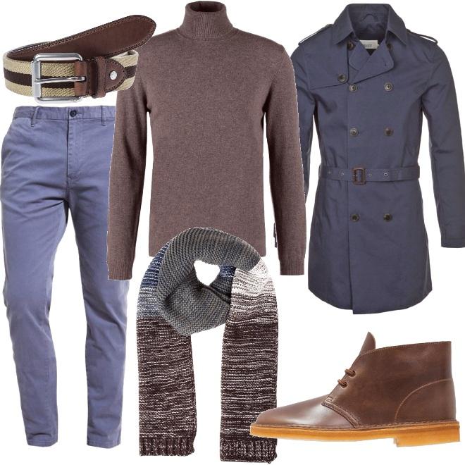 Outfit Collo alto e trench