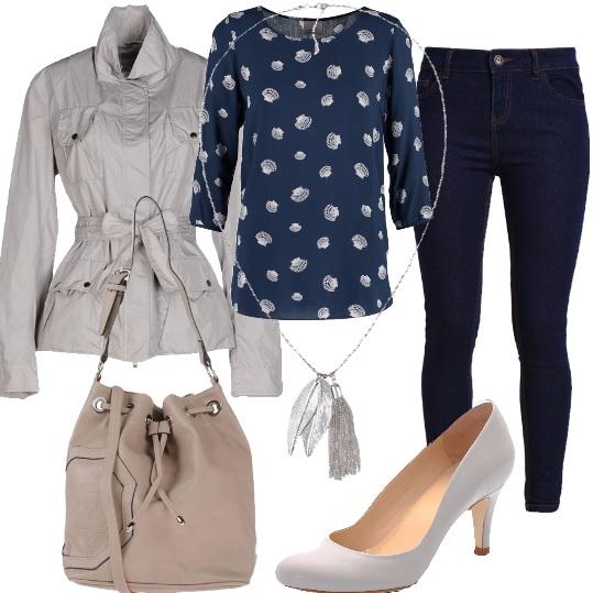 Outfit La sahariana grigia