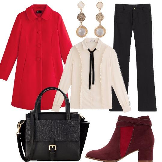 Outfit Il tocco di rosso