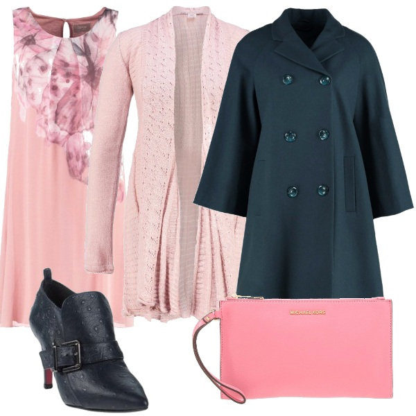 Outfit Rosa anche d'autunno