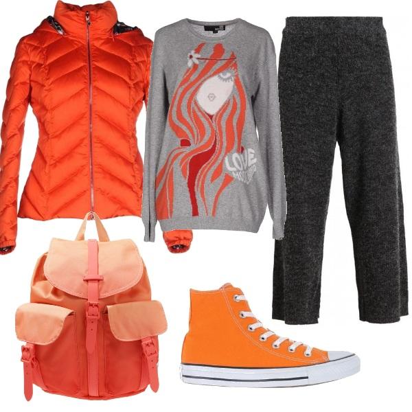 Outfit Spesa in arancio