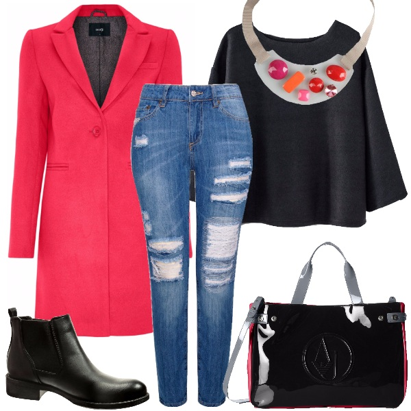 Outfit Fucsia d'inverno
