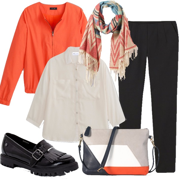 Outfit Un tocco arancio