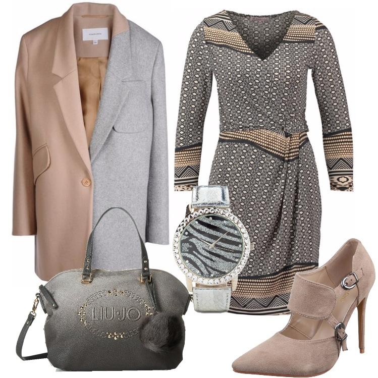 Outfit Il cappotto bicolore