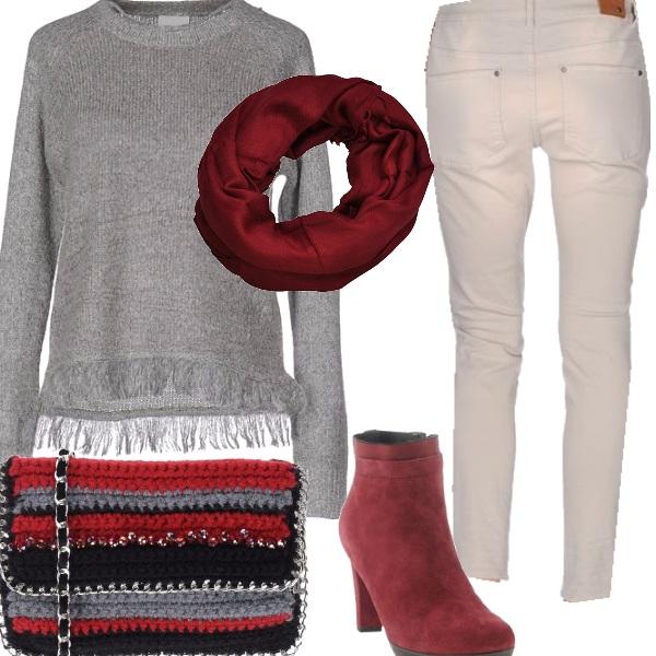 Outfit La borsetta a maglia