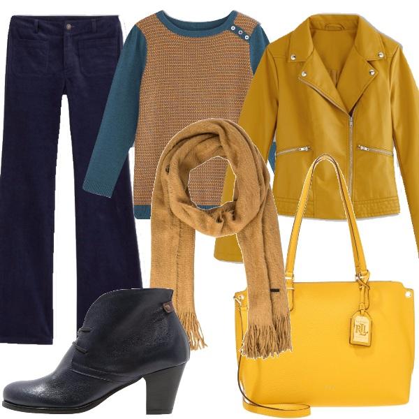 Outfit Fenomeno chiodo giallo