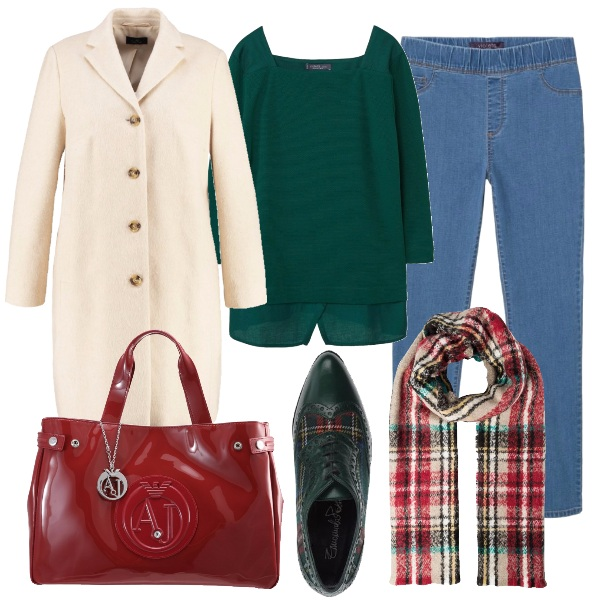 Outfit Tartan tricolore
