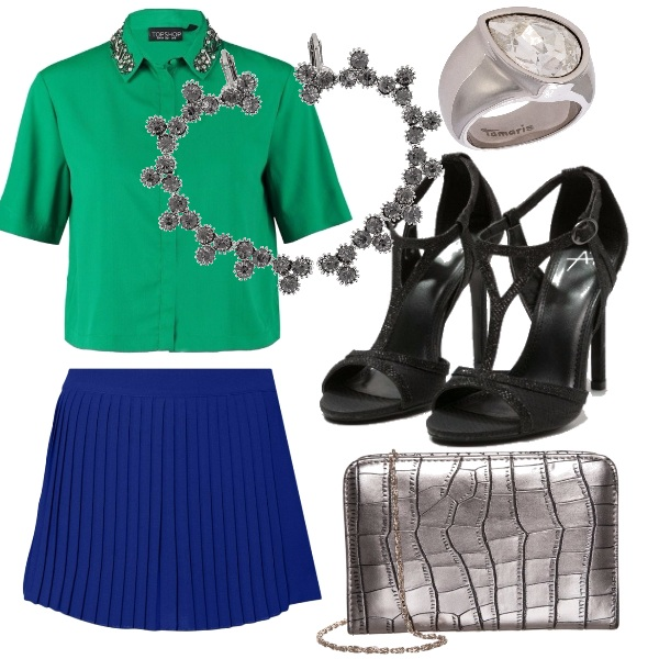 Outfit Blue & green