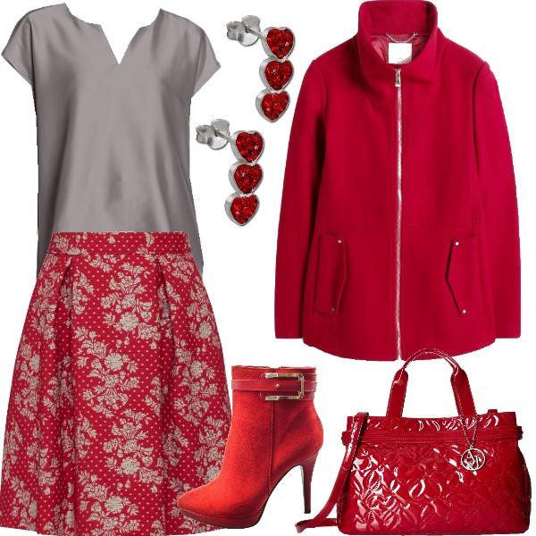 Outfit Aurora red, bon ton ogni giorno