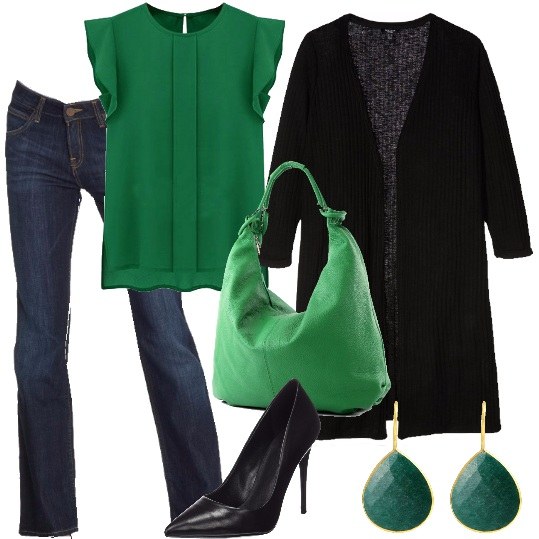 Outfit Verde autunno