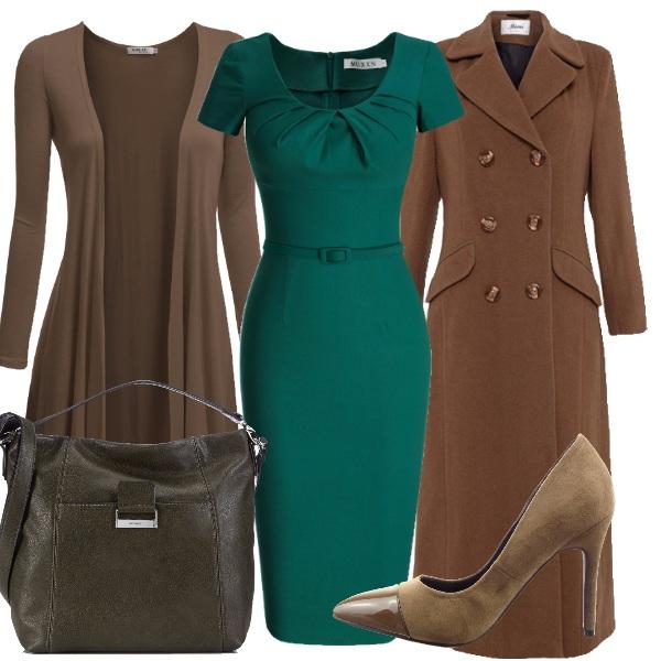 Outfit Il marrone e il verde dell'autunno