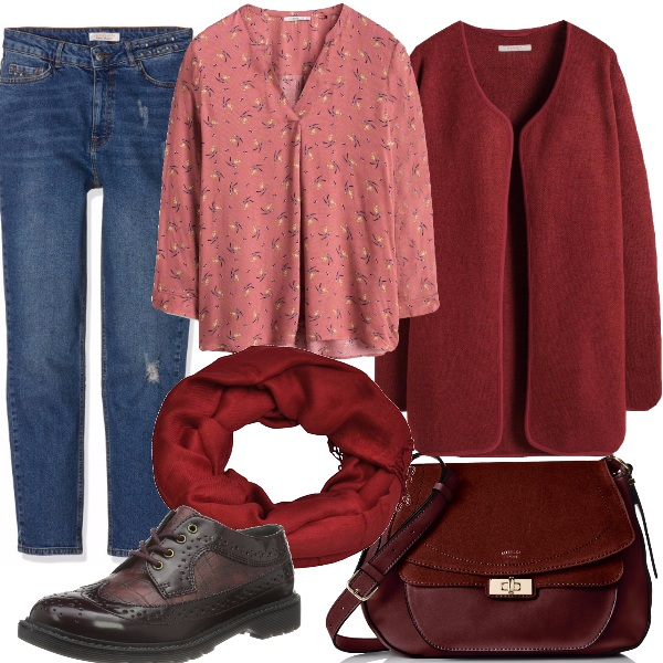 Outfit Tendenza autunno/inverno: bordeaux