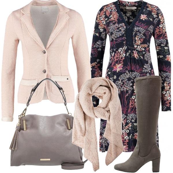Outfit Vestito, giacca e stivali