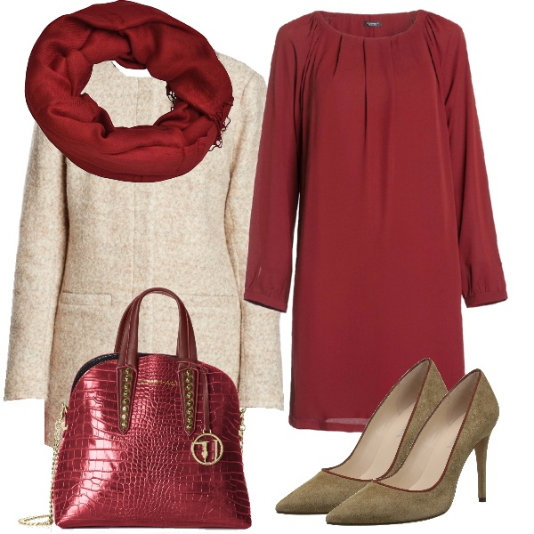 Outfit Una serata in bordeaux