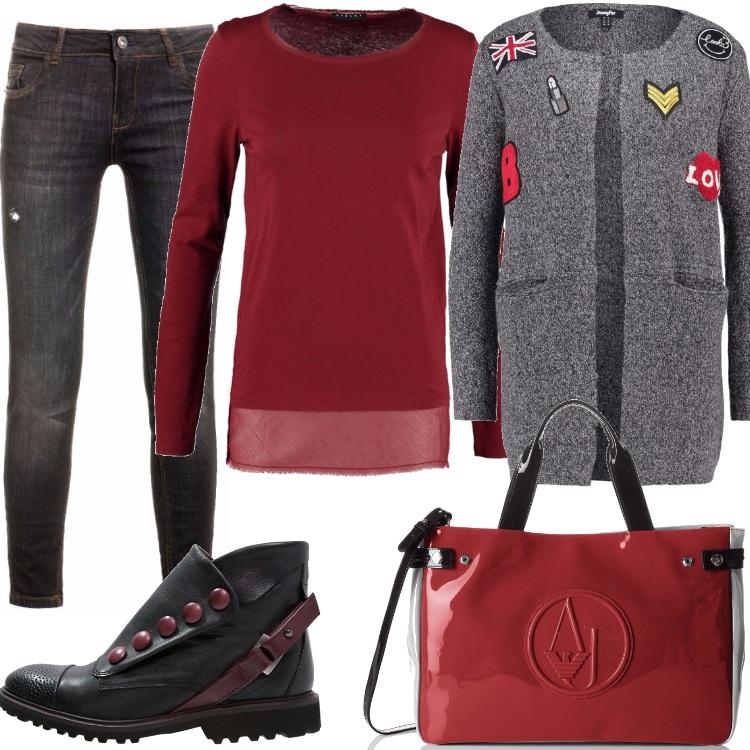 Outfit Cardigan alternativo