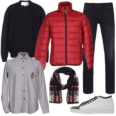 Outfit Casual in rosso