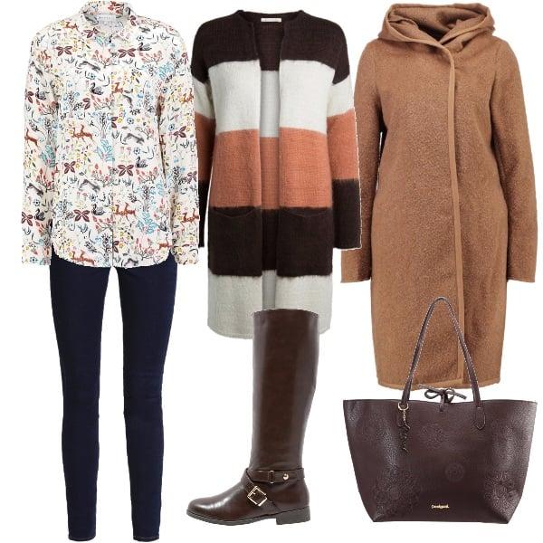Outfit Fantasia di marrone