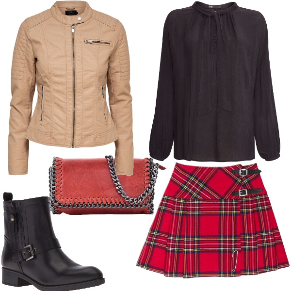Outfit Rosso tartan