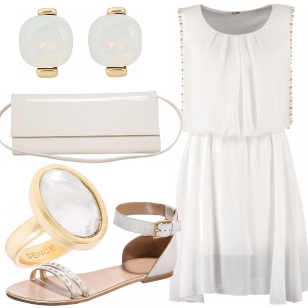 Outfit Dinner in white