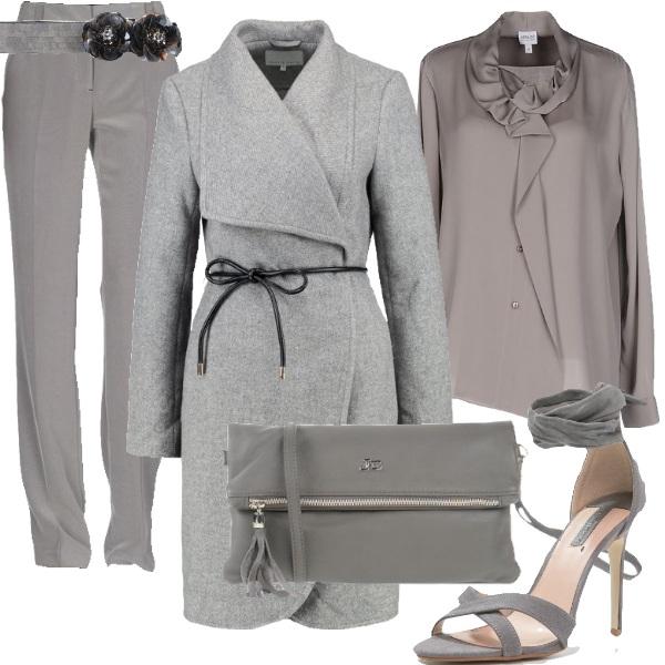Outfit Neutro in grigio sharkskin