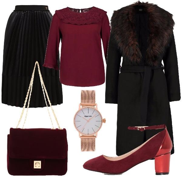 Outfit Come il vino rosso