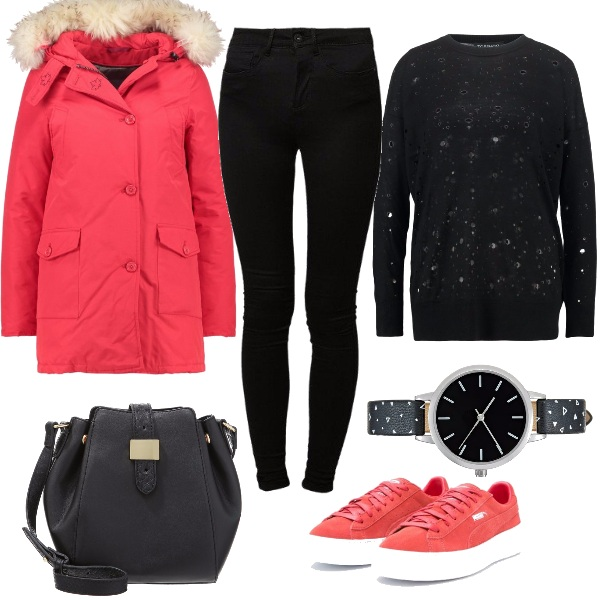 Outfit Canadian rosso