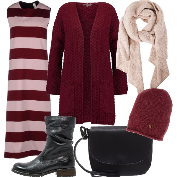 Outfit In lungo, a righe