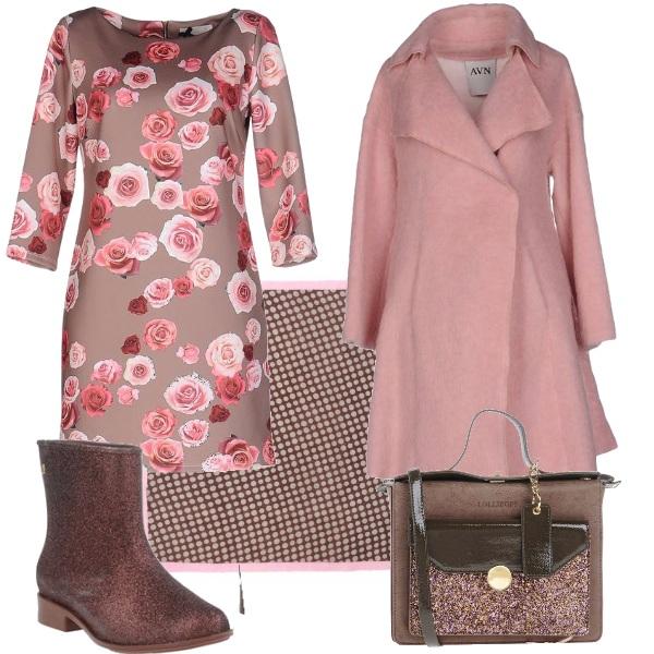 Outfit Fiori e glitter