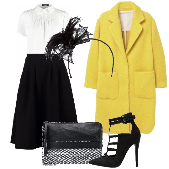 Outfit Cappotto giallo