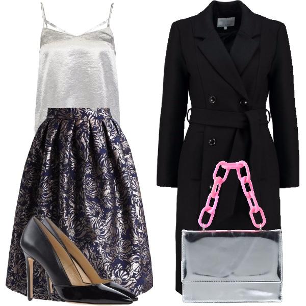 Elegante in argento outfit donna Chic per serata fuori | Bantoa