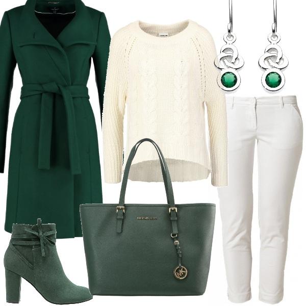 Outfit Bianco e smeraldo