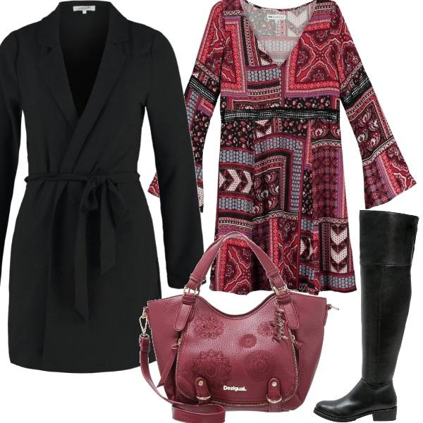Outfit Un po' rosso un po' nero