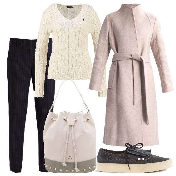 Outfit Il cappotto rosa