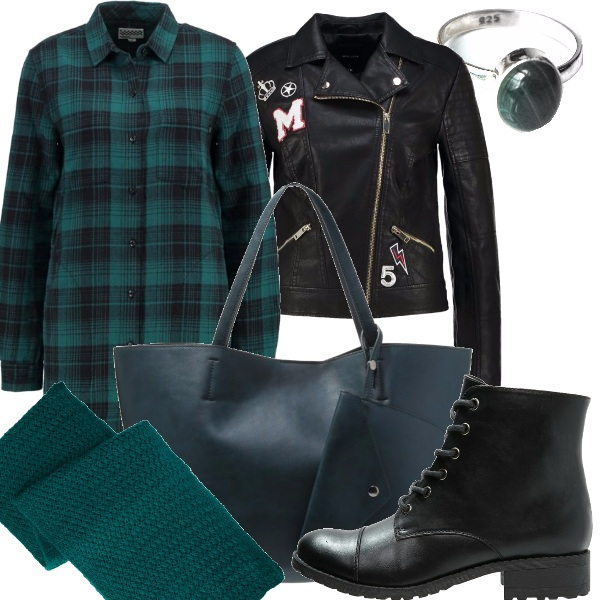Outfit Verde rock