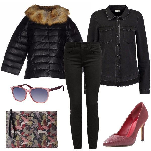Outfit Jeans nero