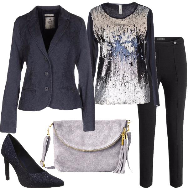Outfit Sodalizio del blu e del nero